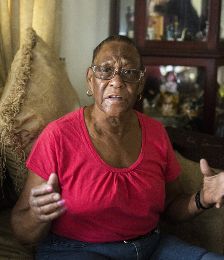 Lois Ann Cantwell, 76, sits in her daughters home on Sept. 27, 2018. She and her granddaughter were rescued from her house's attic after flash flooding caused by Hurricane Florence engulfed it.