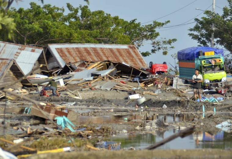 Image: Damage caused by a tsunami in Palu, Indonesia.