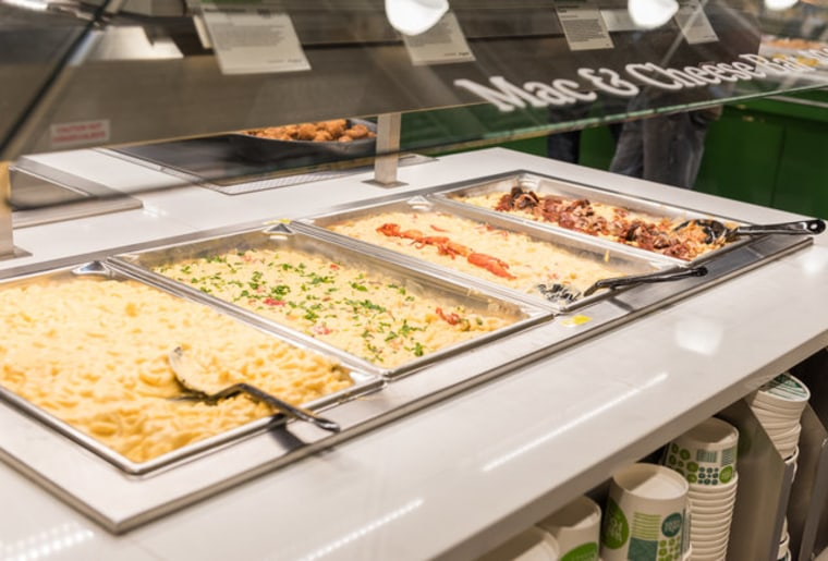 Whole Foods mac and cheese bar
