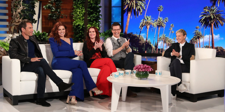 Will and Grace cast on Ellen