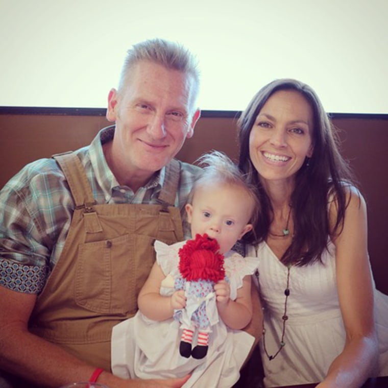 Rory Feek, his late wife, Joey, and Indy, in the spring of 2015.