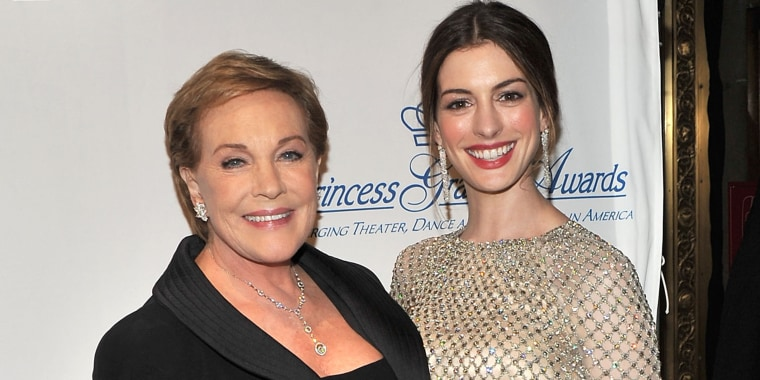 Anne Hathaway wrote a sweet birthday note to Julie Andrews.