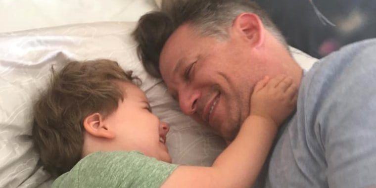 Richard Engel and his son, Henry