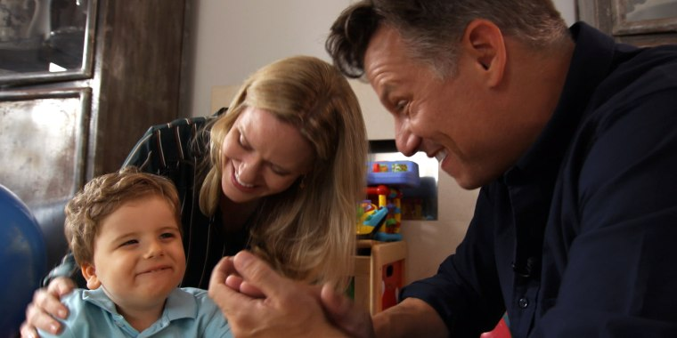 Richard Engel and his family