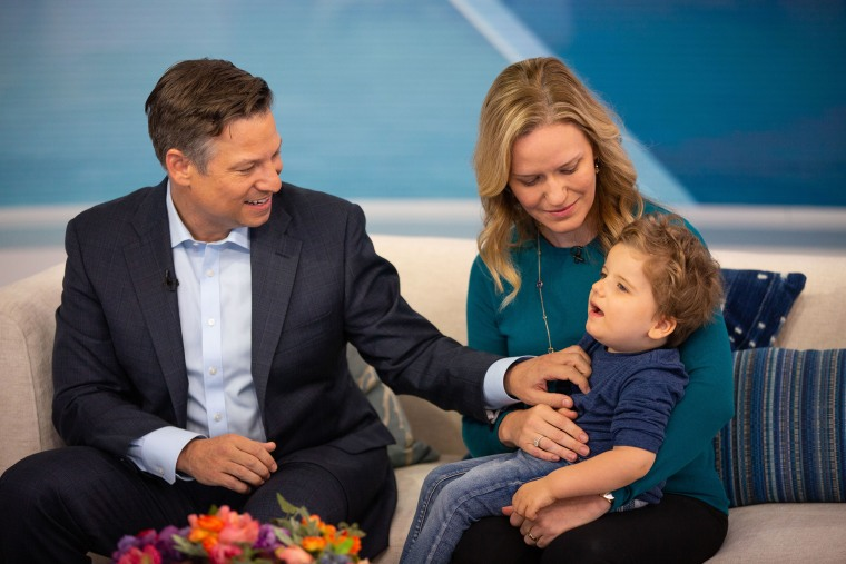Richard Engel and his wife, Mary Forrest, shared the progress their son, Henry, has made recently with TODAY viewers.