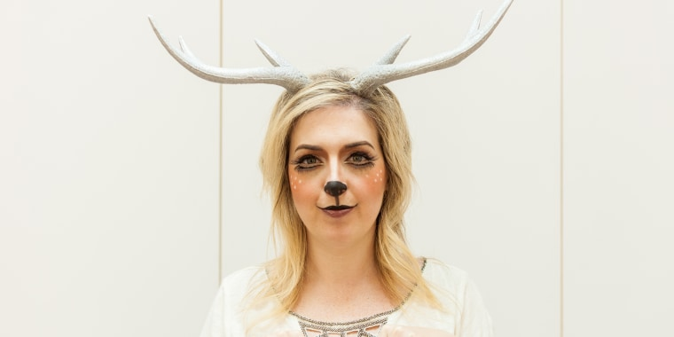 deer makeup, deer Halloween costume, Halloween makeup ideas, Halloween makeup tutorial, deer costume