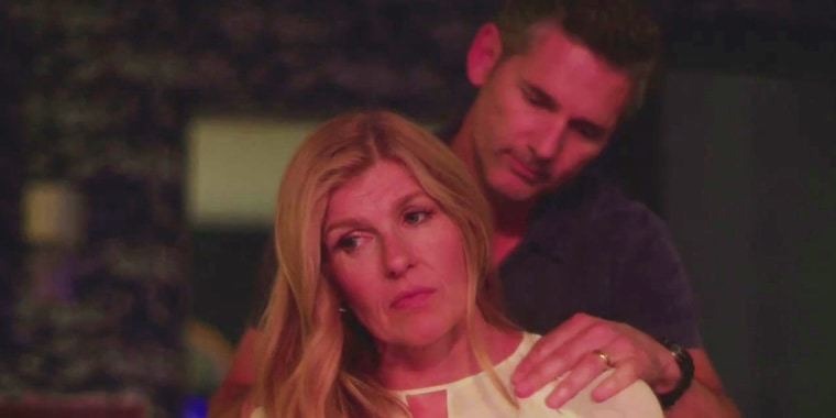 """Connie Britton plays Debra Newell and Eric Bana plays John Meehan in Bravo's new """"Dirty John"""" series, based on a real-life crime story."""