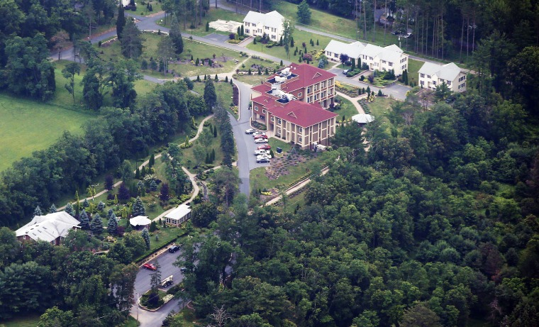 Image: An aerial view of the Golden Generation Worship and Retreat Center in Saylorsburg, Pennsylvania