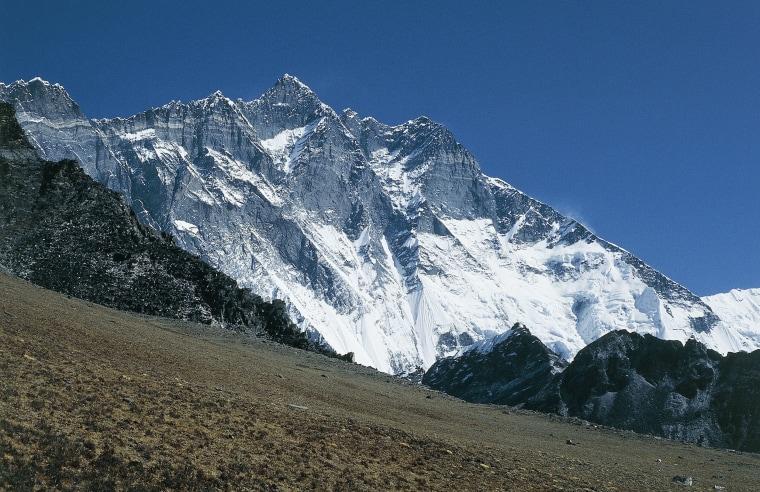 Image: Mount Lhotse in the Himalayas, Nepal.