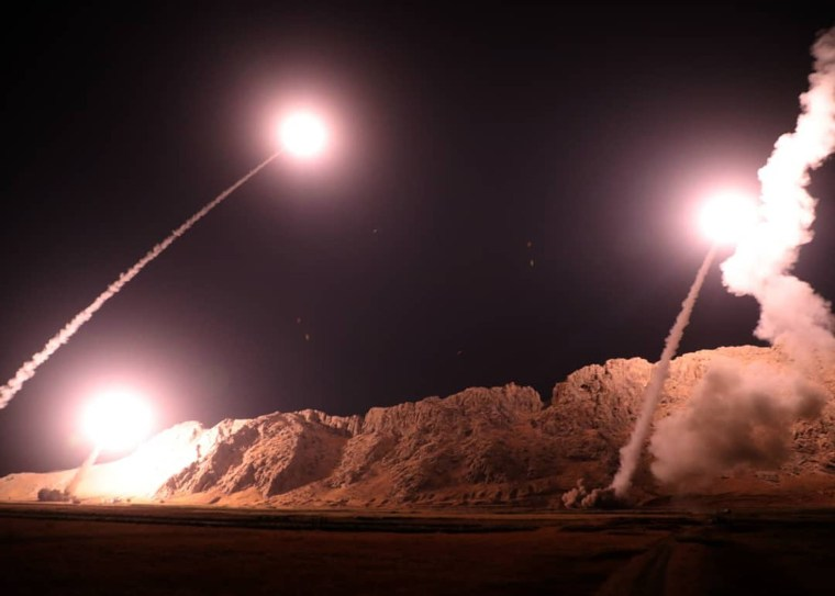 Image: Iran launched missiles targeting militants in eastern Syria on Monday