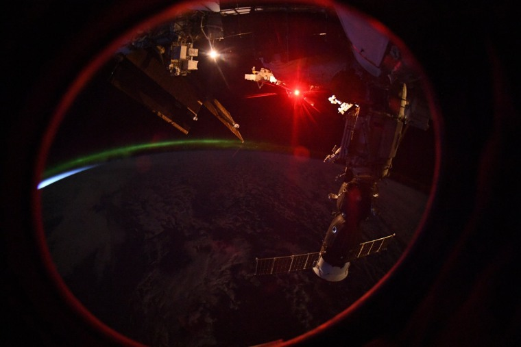 Russian cosmonaut Oleg Artemyev captured this image of the Earth at night from the International Space Station on Sept. 23.