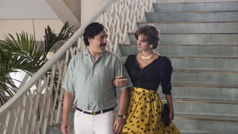 Actor Javier Bardem plays Pablo Escobar and actress Penelope Cruz plays Virginia Vallejo in the film 'Loving Pablo.'