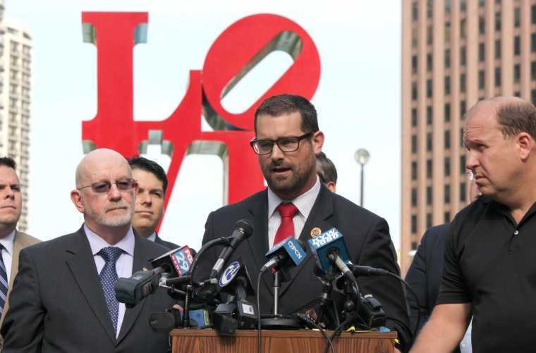 Brian Sims during the announcement of the introduction of H.B. 1686, the Pennsylvania Marriage Equality Act.