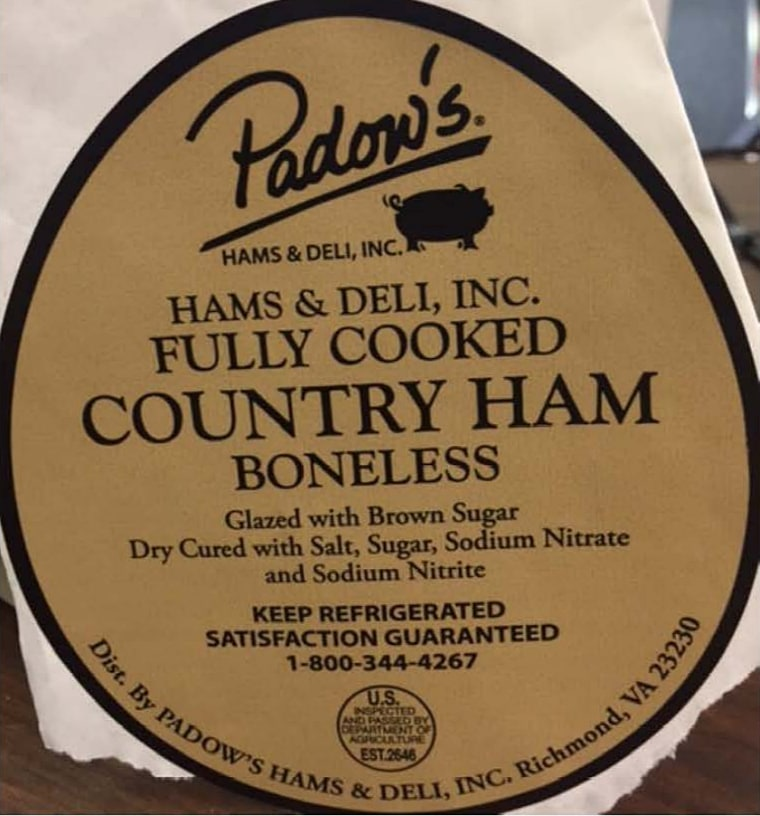 One of the ready-to-eat deli-loaf ham items that has been recalled by the CDC because of its link to listeria.
