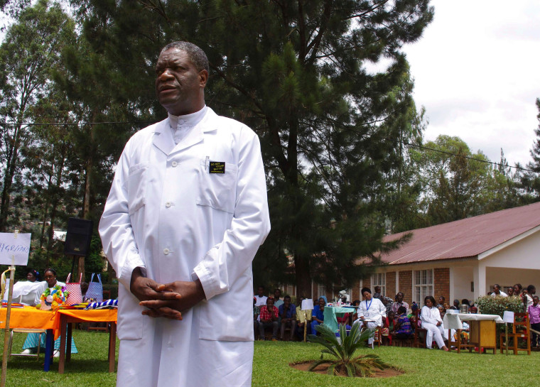 Image: Congolese gynaecologist Denis Mukege poses at Panzi Hospital, in the outskirts of Bukavu.