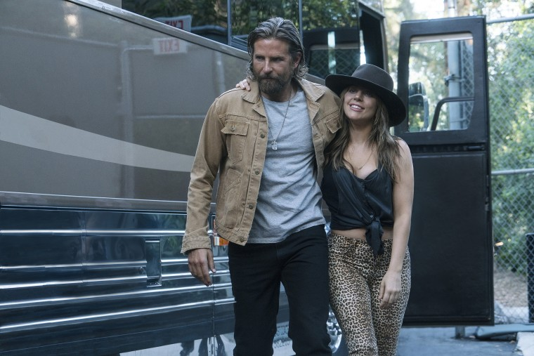 Lady Gaga and Bradley Cooper in 'A Star Is Born'.