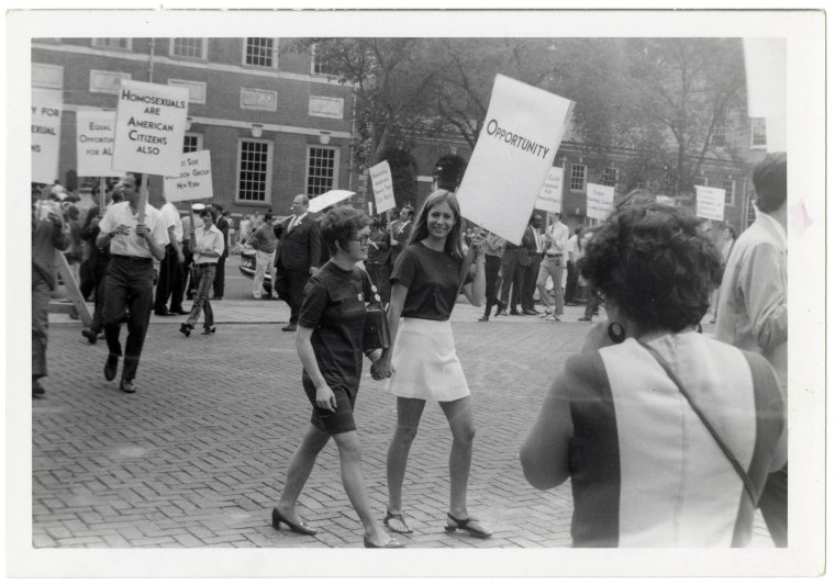 Reminder Day picketing at Independence Hall, Philadelphia on July 4, 1969.
