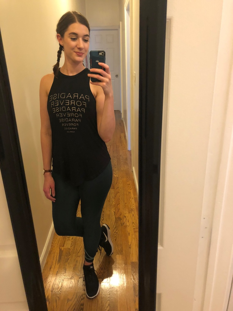 Look #8: Julie's tank and workout pants