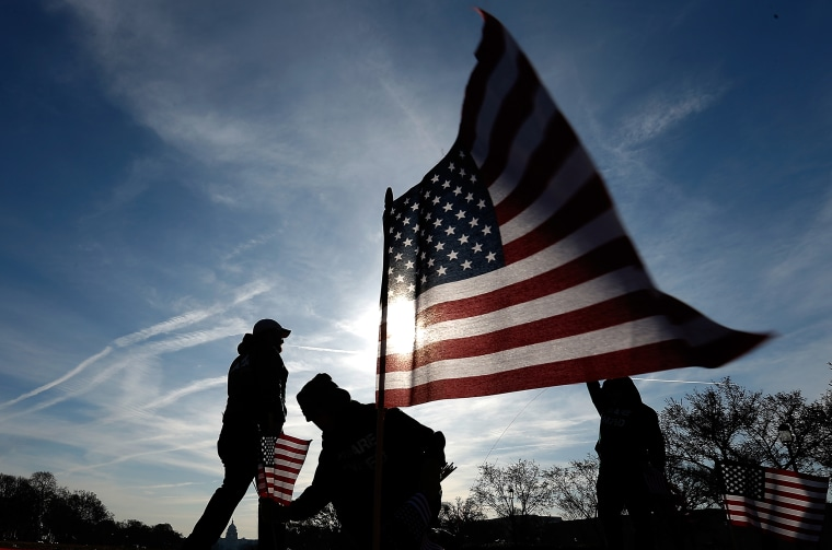 Image: American Flags Planted On National Mall To Honor Service Members Who Committed Suicide
