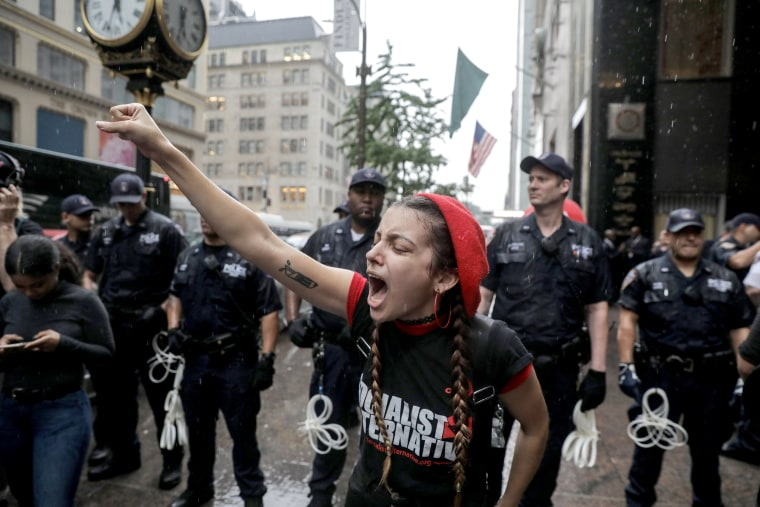 Image result for image of violent Kavanaugh protesters