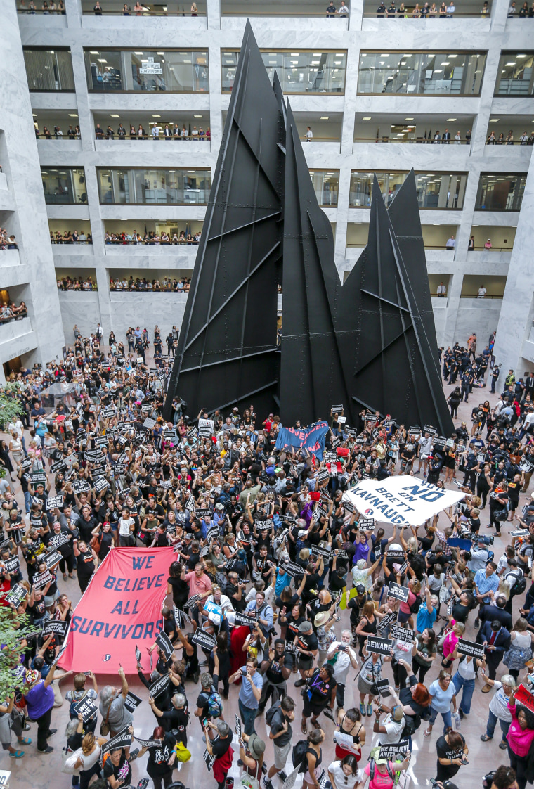 Image: Protests against on Supreme Court nominee Judge Brett Kavanaugh
