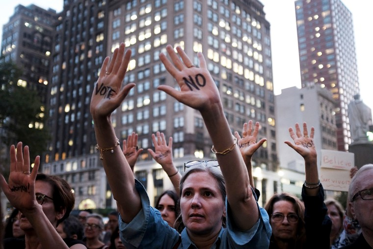Image: Activists Demonstrate Against Supreme Court Nominee Brett Kavanaugh In Brooklyn