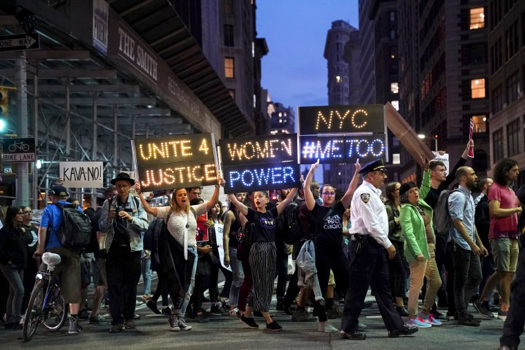 Image: Protestors Demonstrate Against Supreme Court Nominee Brett Kavanaugh In New York