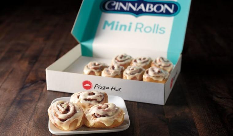 Cinnabon Mini Rolls at Pizza Hut
