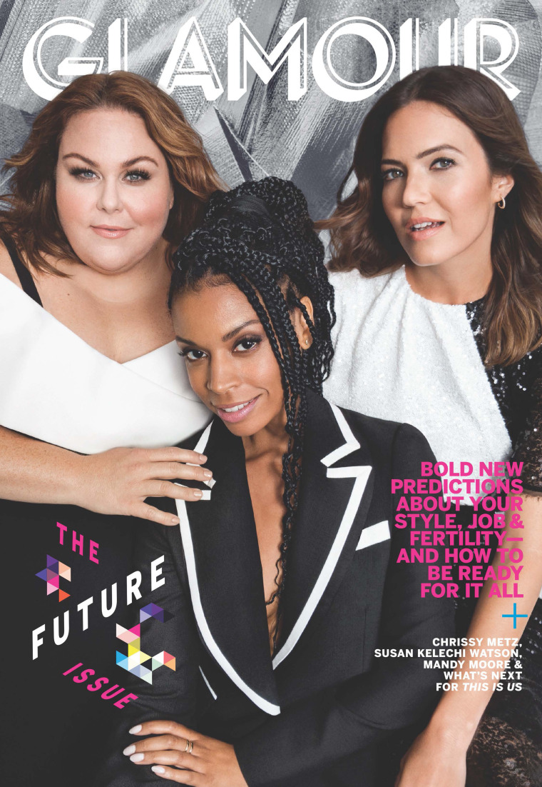 "Moore and her fellow ""This Is Us"" actresses grace the cover of Glamour's November edition."