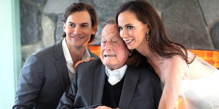 Craig Coyne, George H. W. Bush and Barbara Bush