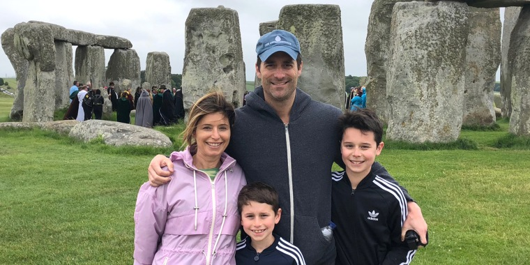 Film producer Todd Lieberman and his family.