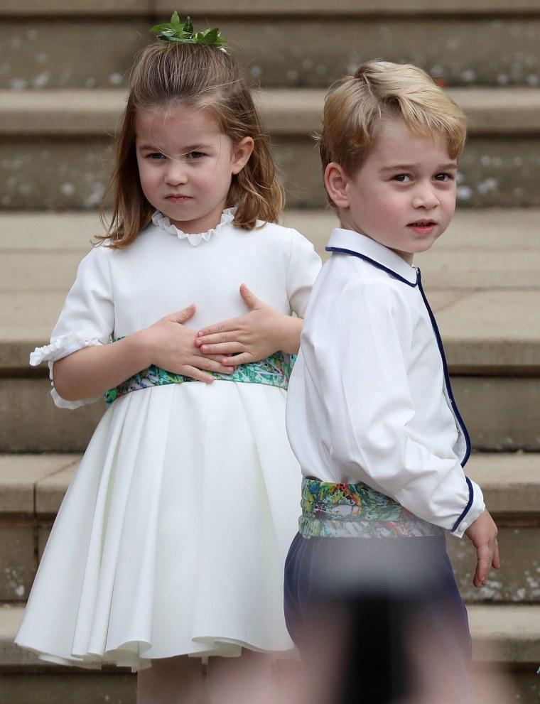 Britain's Princess Charlotte and Prince George