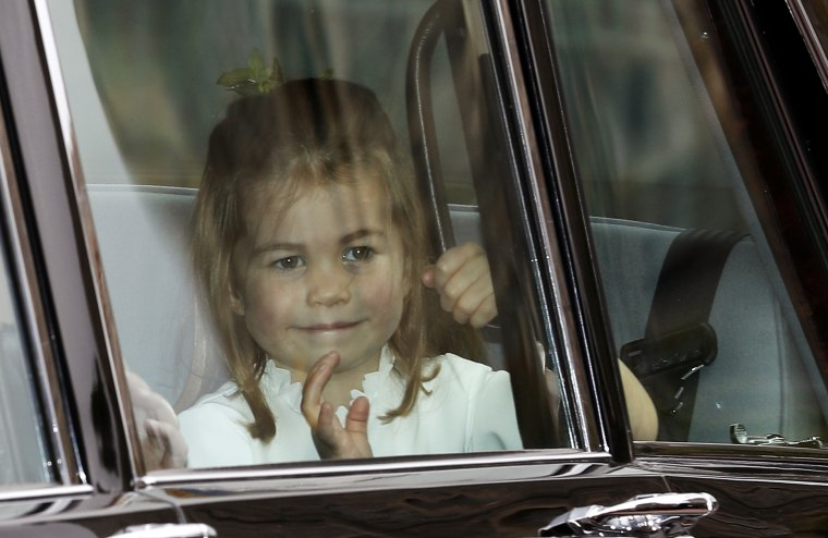 Princess Charlotte waves