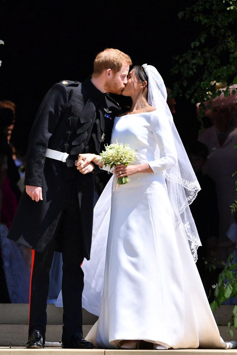 Kate and Meghan at the royal wedding