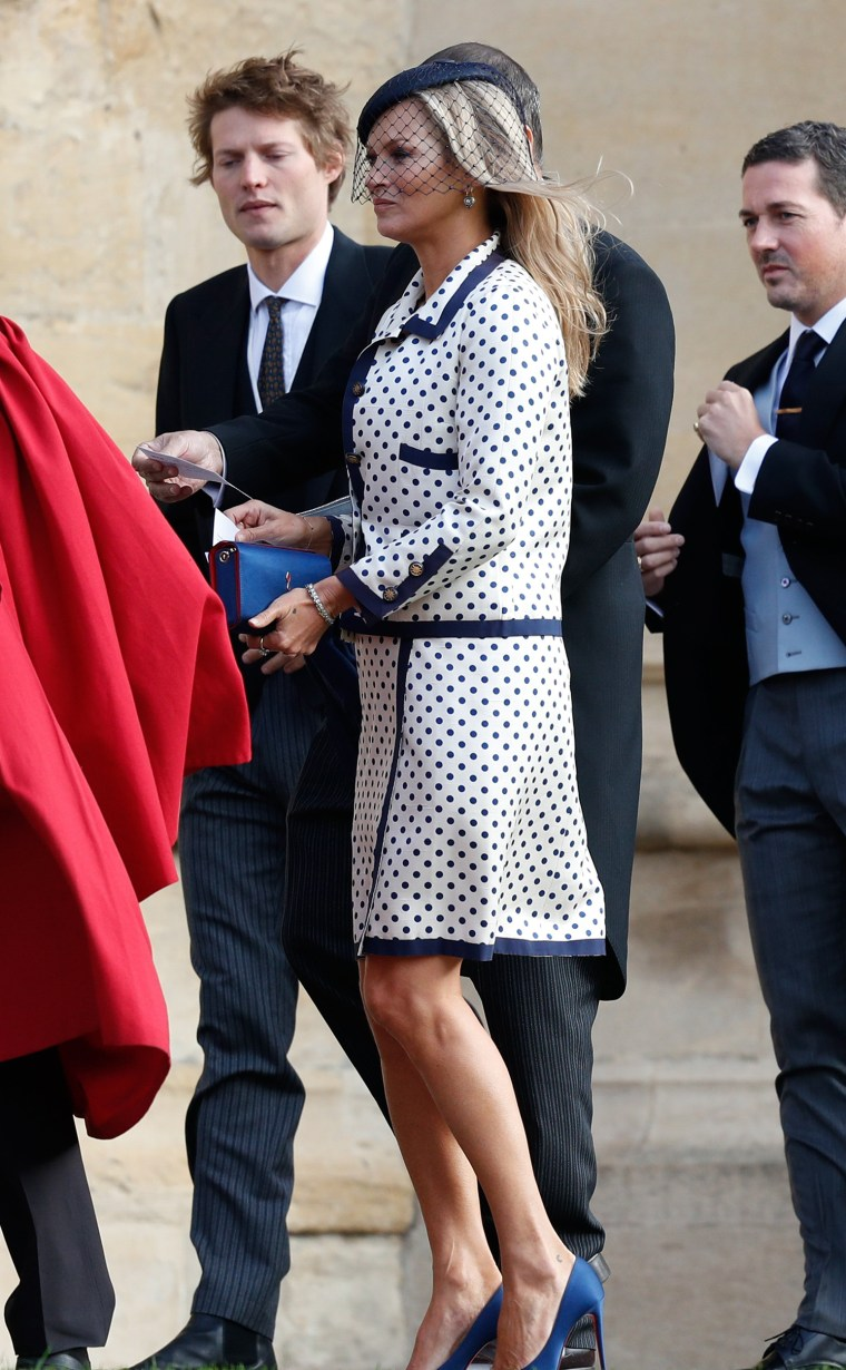Kate Moss sported a fun, polka-dotted dress.