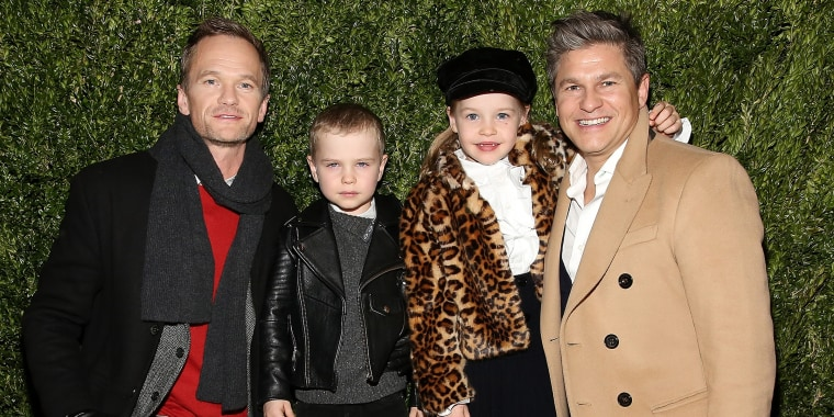 Neil Patrick Harris, Gideon Scott Burtka-Harris, Harper Grace Burtka-Harris, and David Burtka