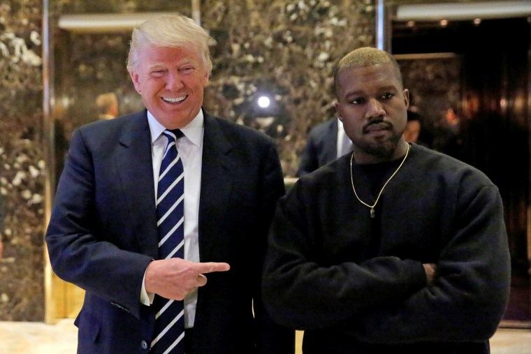Image: U.S. President-elect Donald Trump and musician Kanye West pose for media at Trump Tower in Manhattan, New York City
