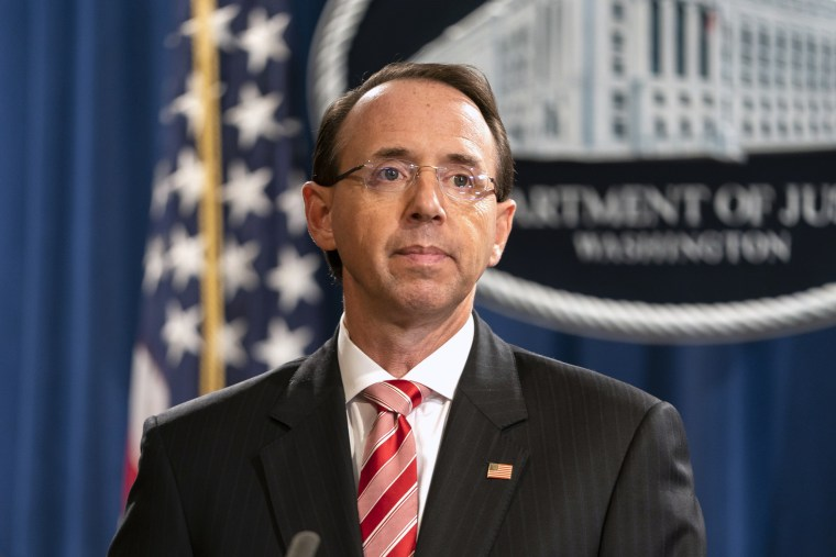 Image: Deputy Attorney General Rod Rosenstein