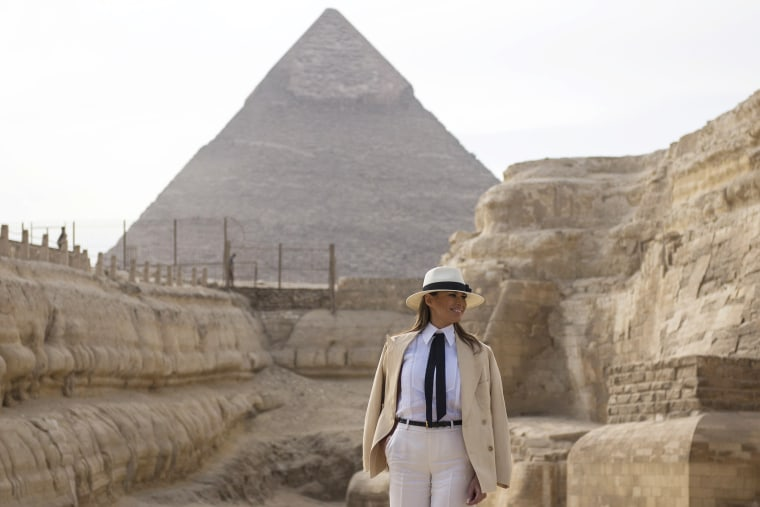 Image: U.S. first lady Melania Trump visits Egypt