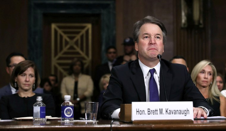 Image: Judge Brett Kavanaugh testifies to the Senate Judiciary Committee during his Supreme Court confirmation hearing
