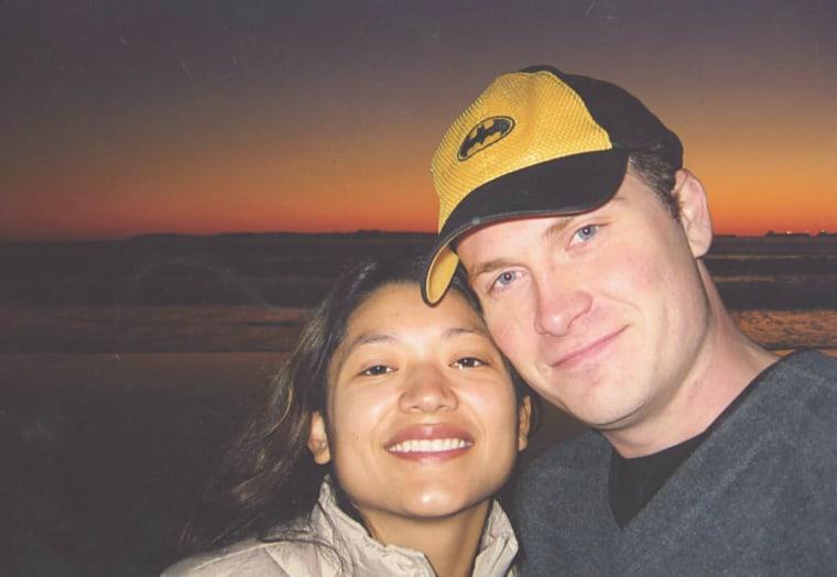 Reyna Granda with her husband Cory