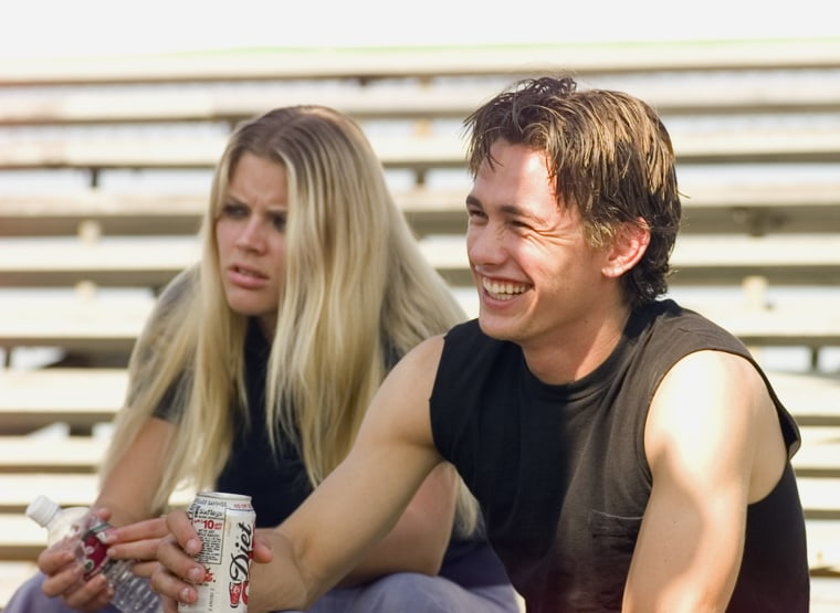 Image: Busy Philipps as Kim Kelly, James Franco as Daniel Desario  in Freaks and Geeks.