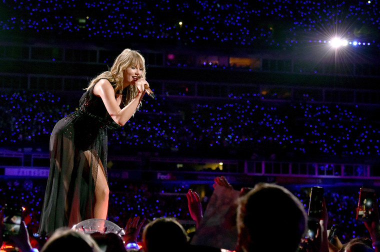 Taylor Swift performs onstage during the reputation Stadium Tour at Nissan Stadium on Aug. 25, 2018 in Nashville.