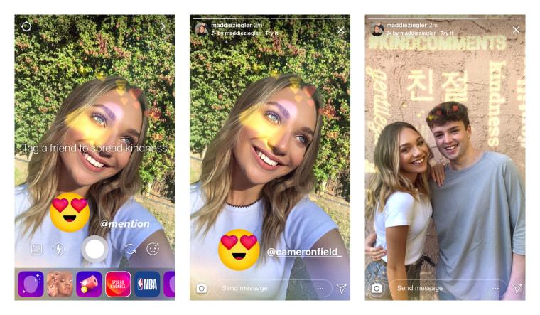 Image: Instagram's kindness camera effect