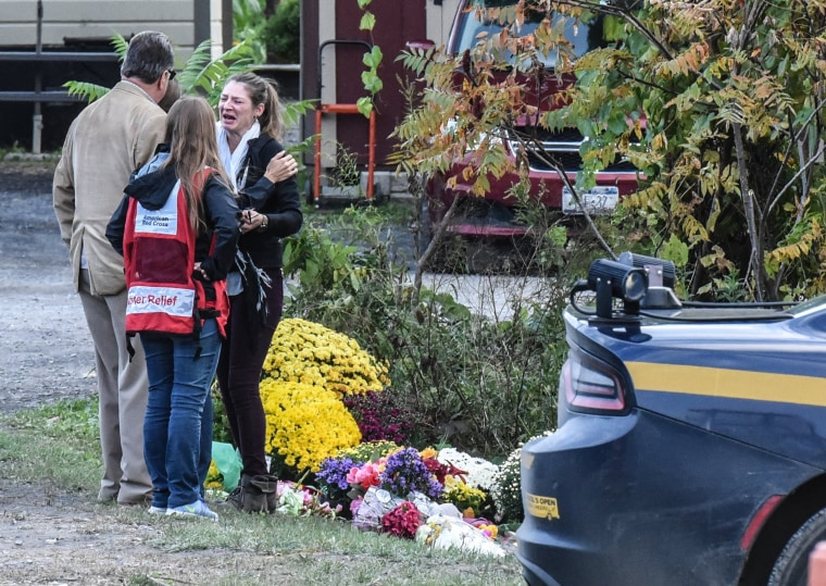 Image: Local Residents Mourn 20 Victims Of Weekend Limousine Crash In New York State