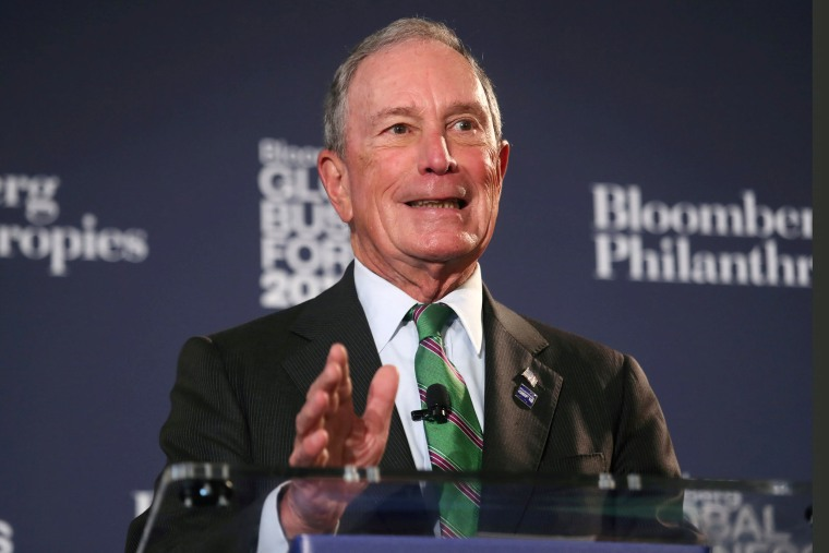 Image: Former New York City Mayor Michael Bloomberg speaks at the Bloomberg Global Business forum in New York