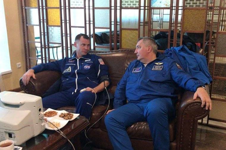 Image: NASA astronaut Nick Hague undergoes medical examination