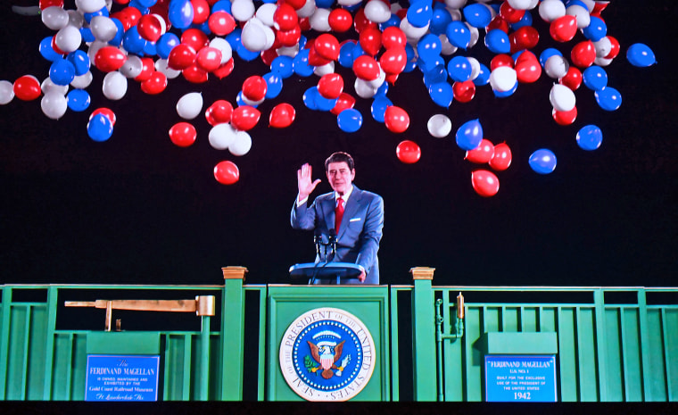 Image: Former U.S. President Ronald Reagan is recreated via Hologram technology during a media preview on Oct. 10, 2018, at the Ronald Reagan Presidential Library in Simi Valley, California.