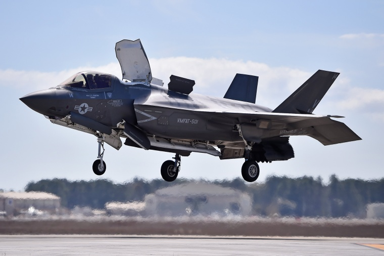 Image: FILE: F-35 U.S. Military Plane Crashes In South Carolina The F-35 Lightning II Is Put Through Its Paces At MCAS Beaufort
