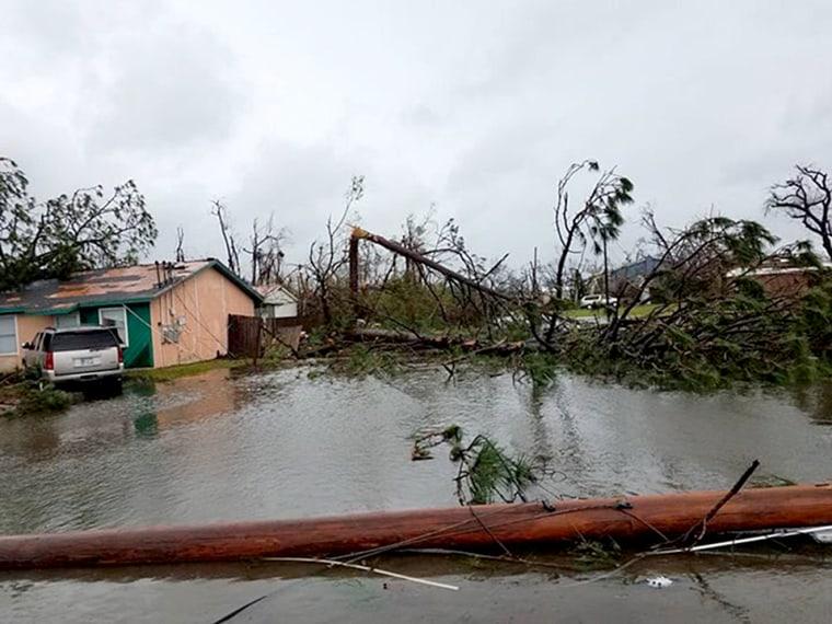 The devastation of Julie's neighborhood in Panama City, Florida after Hurricane Michael passed through.